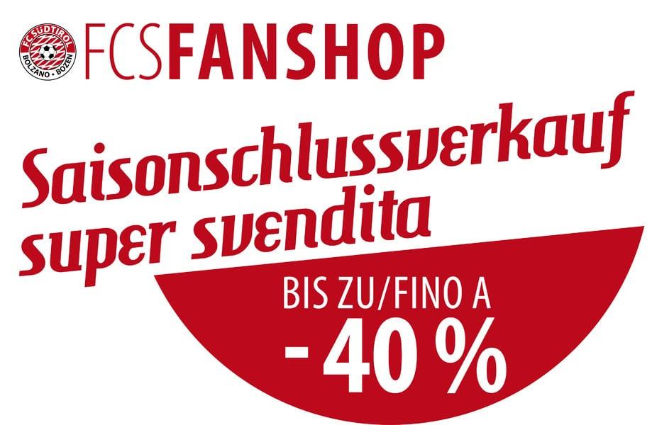 4eddabd1b9fa SCHLUSSVERKAUF! BIS ZU -40% AUF ALLE FANSHOP ARTIKEL! - FC Südtirol ...