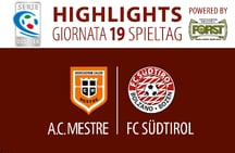 HIGHLIGHTS MESTRE - FC SÜDTIROL 0:1 (COSTANTINO)