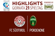 Highlights FC Südtirol - Pordenone 1:0