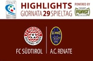 Highlights FC Südtirol - Renate 0:0